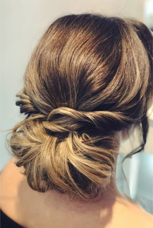 relaxed bridal chignon by wedding hair and makeup artist Alice
