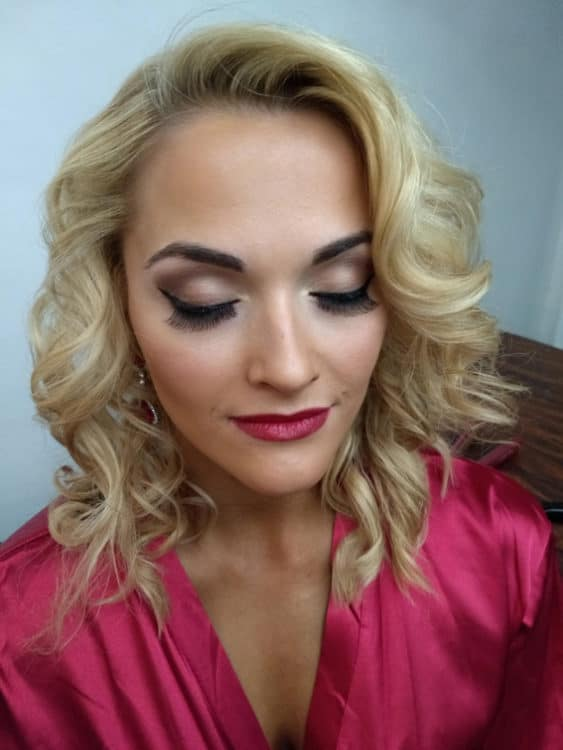 bridal glam by wedding hair and makeup artist Alice