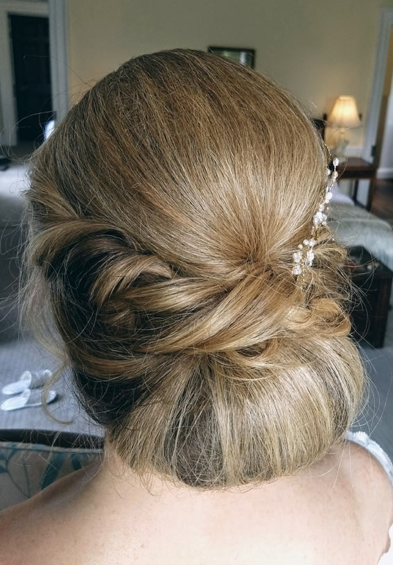 bridal chignon by wedding hair and makeup artist Alice