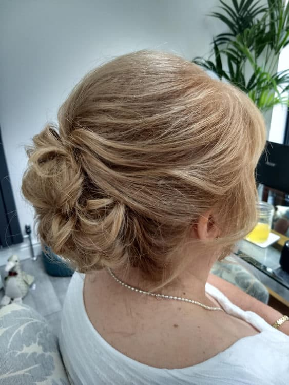 bridal hair by wedding hair and makeup artist Alice