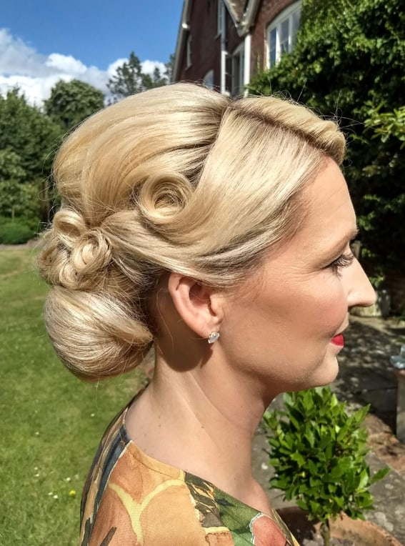 vintage wedding hair and makeup by wedding hair and makeup artist Alice
