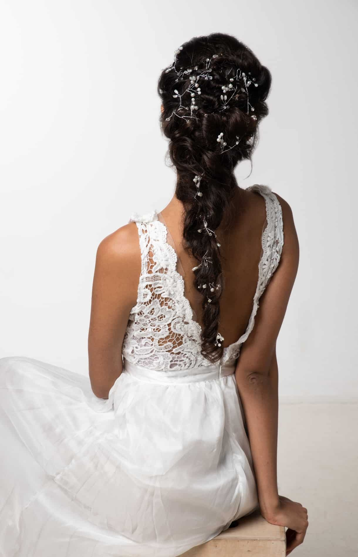 boho bridal braid by wedding hair and makeup artist Alice
